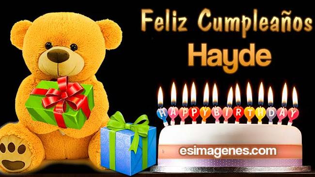 Feliz cumpleaños Hayde