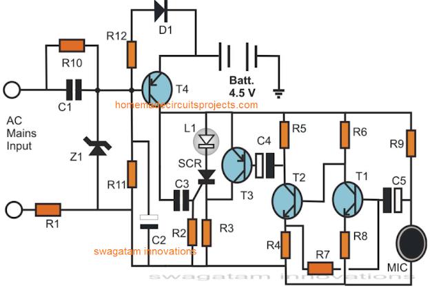 electronic candle circuit
