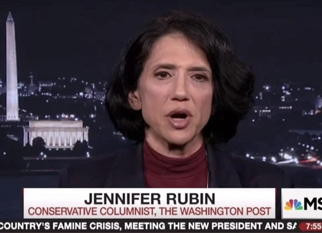 Washington Post Columnist Jennifer Rubin Runs Away When Asked How She's 'Conservative'