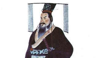 www.fertilmente.com.br - Retrato pictórico de Qin Shi Huang, primeiro imperador e unificador da China