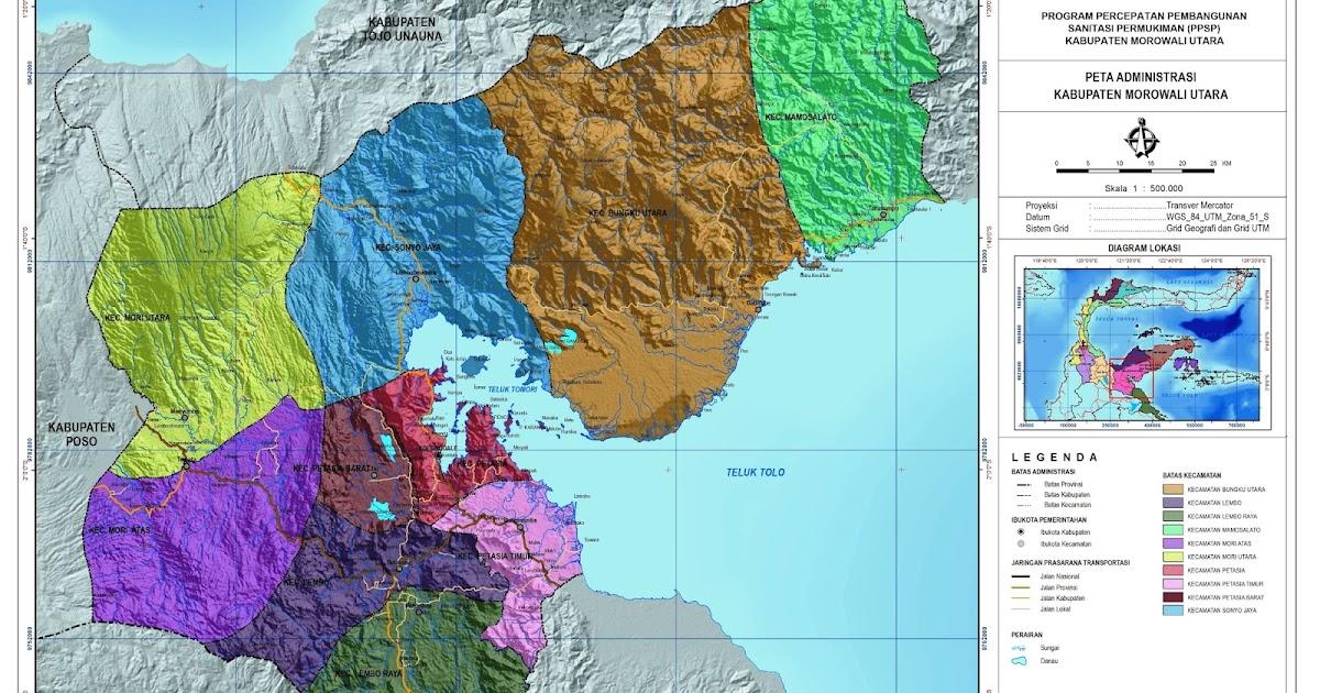 Peta Kota: Peta Kabupaten Morowali Utara
