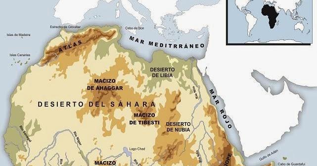Geografa e Historia MAPAS FSICOS DE FRICA mapas