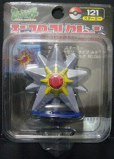 Starmie Pokemon Figure Tomy Monster Collection black package series