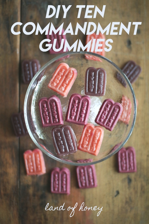 How to make your own Ten Commandment Sour Gummies for Shavuot | Land of Honey