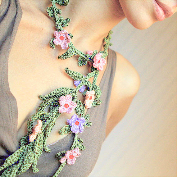 lariat necklace crochet pattern crochet jewellery