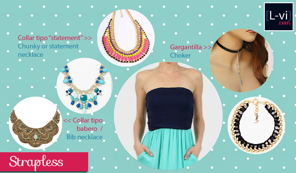 [How to: Necklines & Necklaces] Cuellos y Collares -Strapless-  L-vi.com