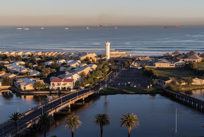 Copyright Vernon Chalmers Lighthouse over Milnerton Lagoon / Woodbridge Island Cape Town - From Arnhem