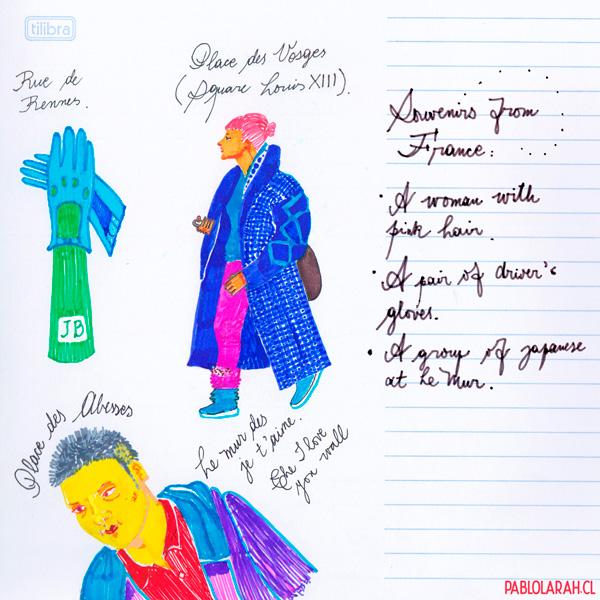 Travel Diary, Illustration, Pablo Lara H
