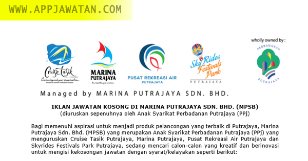 Jawatan Kosong di Marina Putrajaya Sdn. Bhd. (MPSB)
