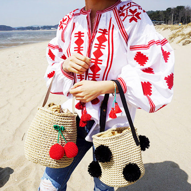 korean fashion, ebay fashion, cheap fashion, straw bag, bucket bag, highstreet fashion, spring summer trends 2018