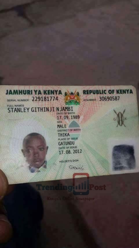 Kenya national id with child's face