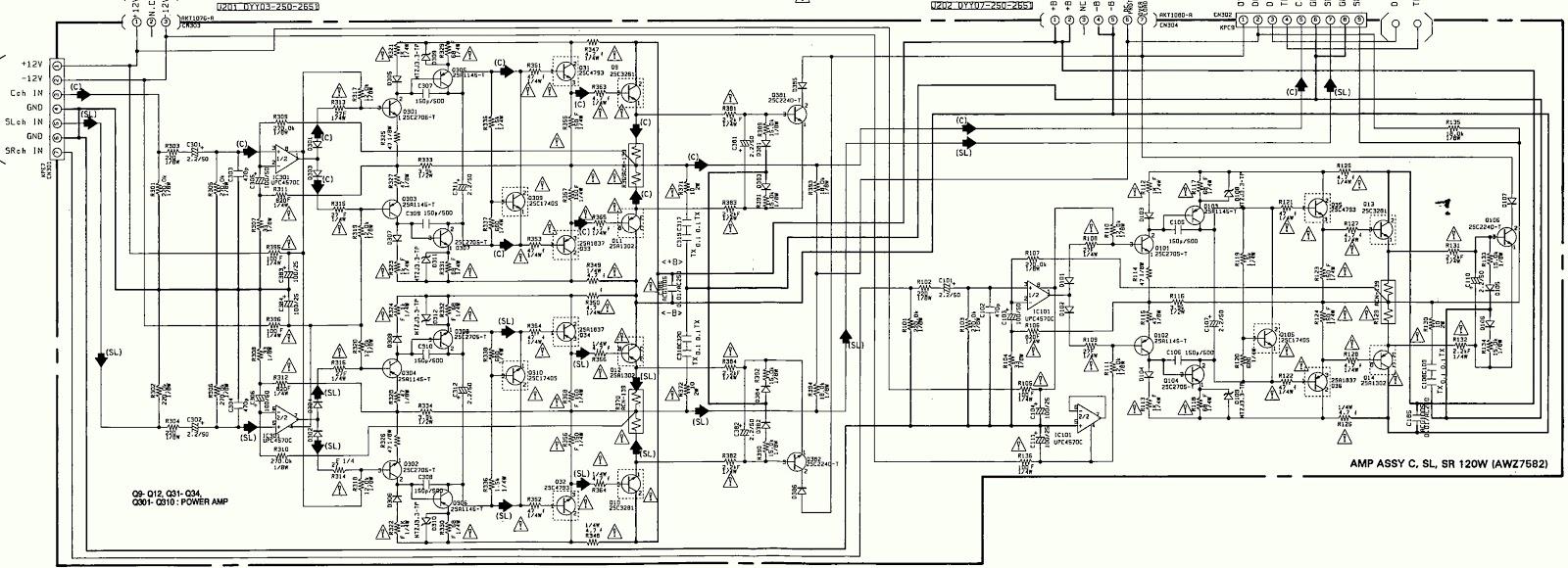 pioneer vsx d3s power amplifier section circuit diagram rh schematicscom blogspot com pioneer power amplifier circuit diagram pioneer power amplifier schematic diagram