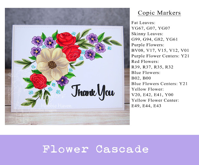 Heather's Hobbie Haven - Thank You Flower Cascade