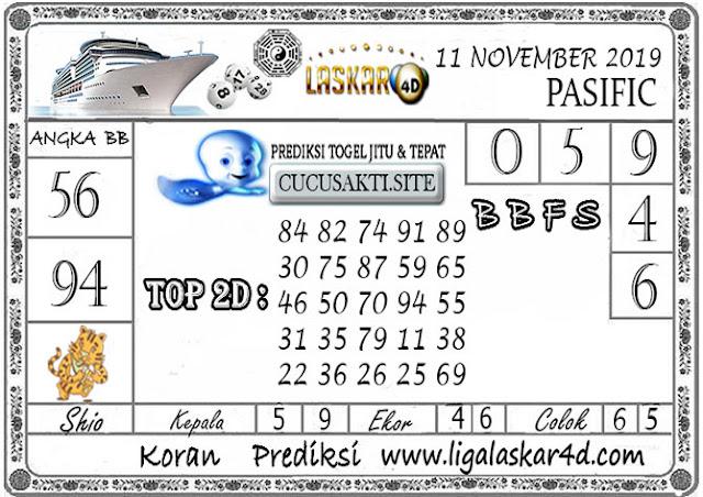 Prediksi Togel Jitu PASIFIC LASKAR4D 11 NOVEMBER 2019