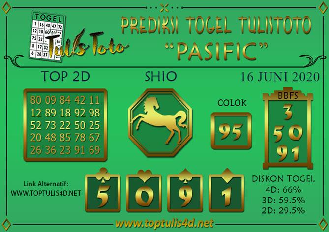Prediksi Togel PASIFIC TULISTOTO 16 JUNI 2020