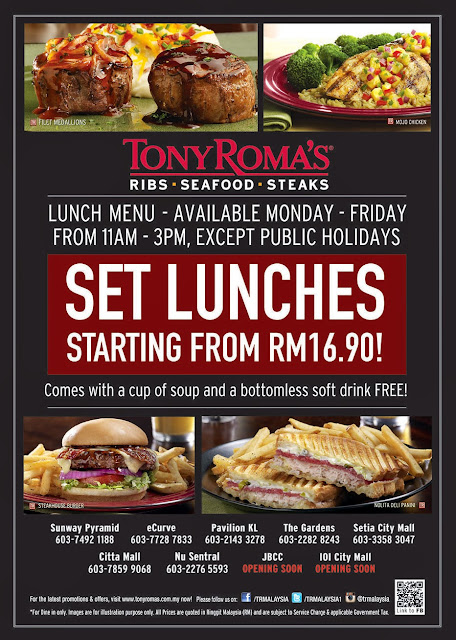 Tony Roma S Lunch Promotion Malaysian Foodie