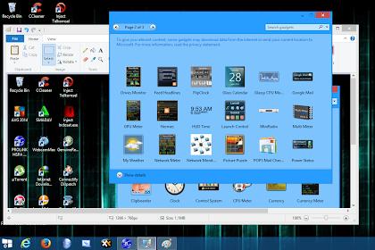 Kumpulan Gadget Windows 8/8.1