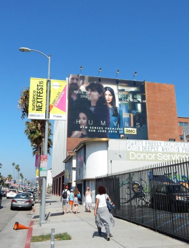 Humans AMC series billboard