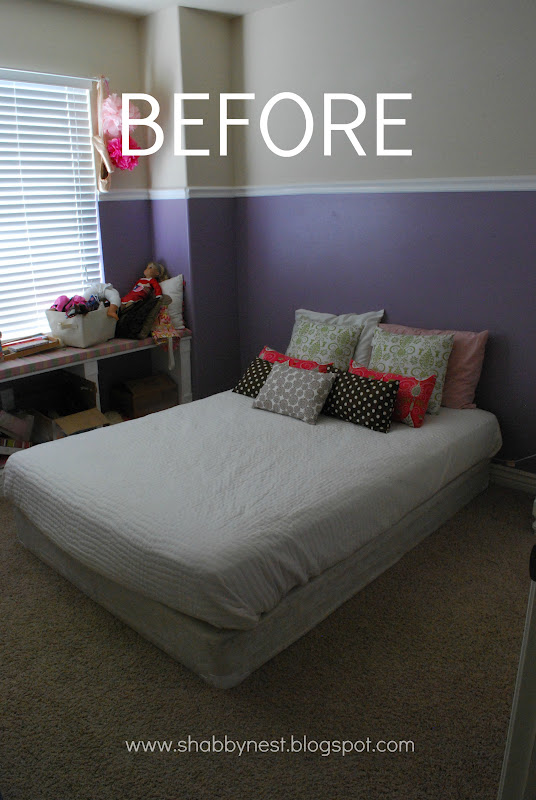 My Daughters Box Room Right Side: My Daughter's Bedroom Redo: Before And After~