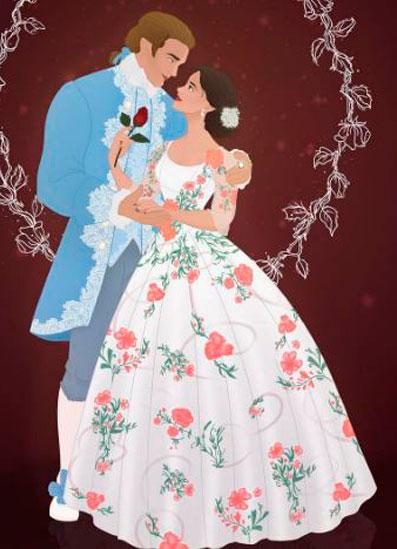 Vestido noiva da Bela (Ema Watson)