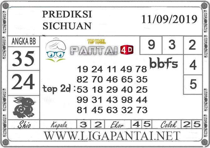 """PREDIKSI TOGEL """"SICHUAN"""" PANTAI4D 11 SEPTEMBER 2019"""