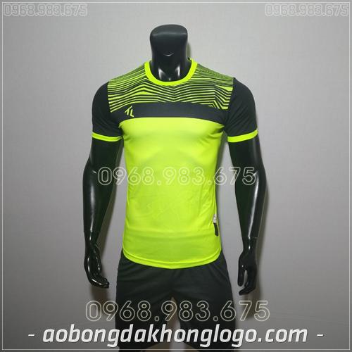 Áo bóng đá không logo TL Riyad màu tím xanh chuối