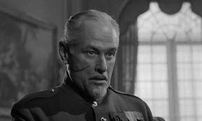 Paths of Glory, George Macready as General Paul Mireau, Directed by Stanley Kubrick