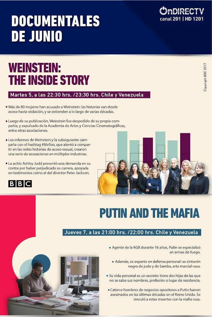 En junio los documentales sobre Vladimir Putin y el productor Harvey Weinstein llegan a Directv