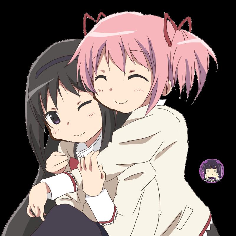 PNG-Homura & Madoka // Mahou Shoujo Madoka Magica