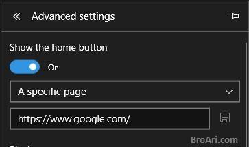 Tips Browsing Internet Menggunakan Microsoft Edge dengan Tampilkan Tombol Home