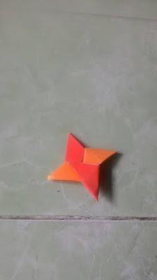 Langkah - langkah cara membuat shuriken dari kertas