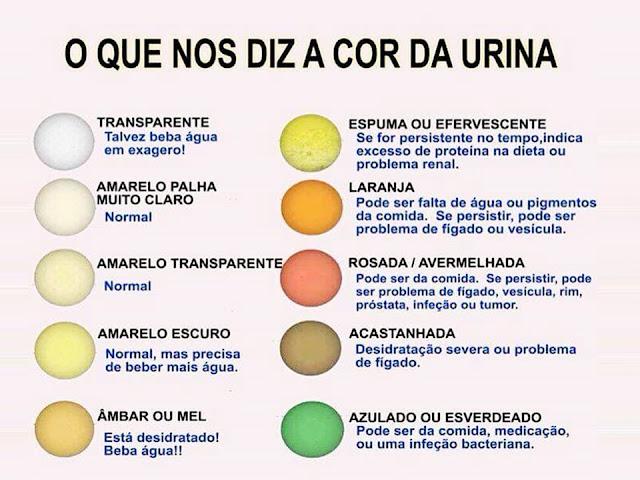 Analisando a cor da urina