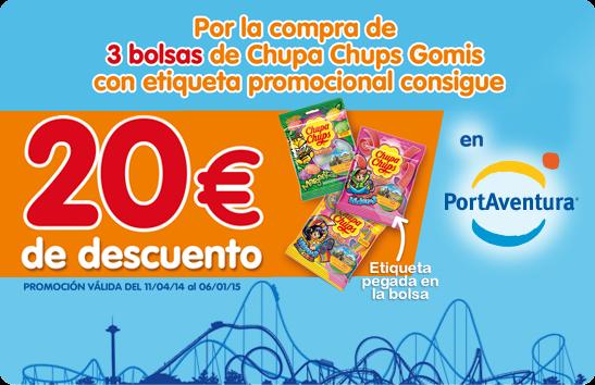 Promoción 20€ chupa chups para PortAventura