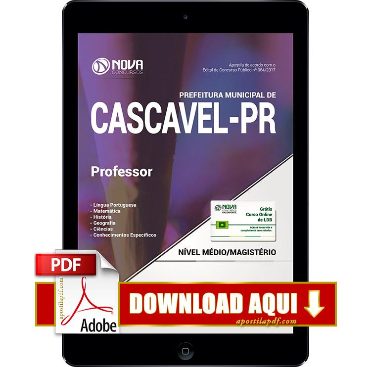Apostila Prefeitura de Cascavel 2017 Professor PDF Download