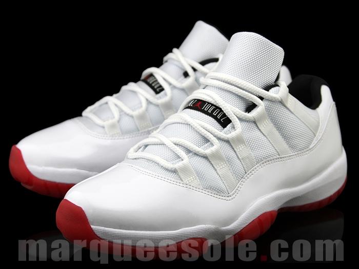 Allure Du Courant: Air Jordan 11 Low White/Black/Varsity Red