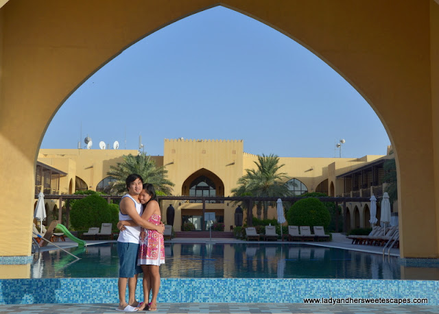 Ed and Lady in Tilal Liwa Hotel