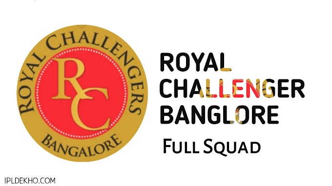 Indian premier league 2019, Full Squad Of Royal Challengers Bangalore