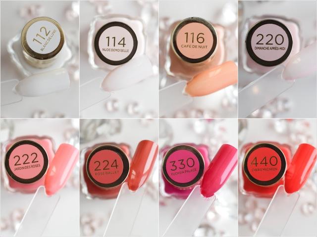 L'Oréal Color Riche Le Vernis Öl-Nagellack Nuancen Übersicht
