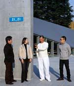 4名展覽館策劃者(由左至右):深澤直人、川上典李子、三宅一生及佐藤 卓