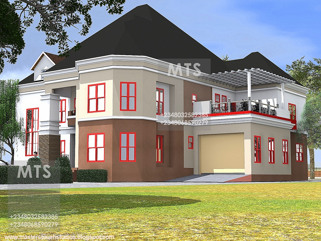 Ground Floor Plan Drawing Mr Edet 6 Bedroom Duplex Residential Homes And Public