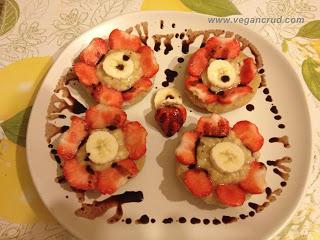 Cookies cu capsuni si banane