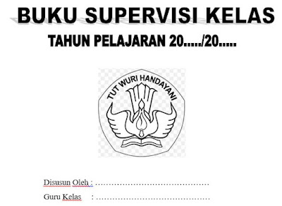 Sampul/Cover Buku Supervisi Kelas, https://bloggoeroe.blogspot.com/