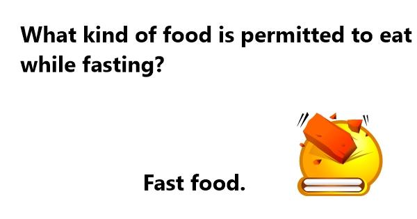 fasting jokes