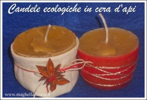 Candele ecologiche in cera d 39 api fai da te maghella di casa - Candele di cera fatte in casa ...