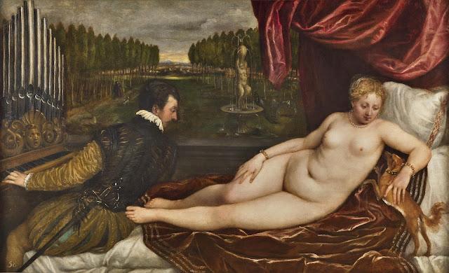 Tiziano - Venus recreándose en la música - c. 1550