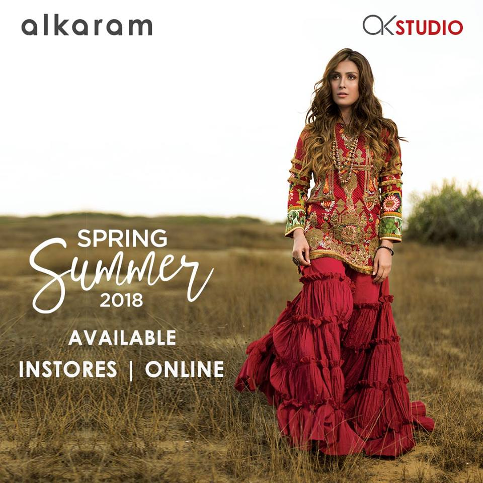 Spring Musical 2018: Alkaram Spring Summer Luxury Embroidered Collection 2018