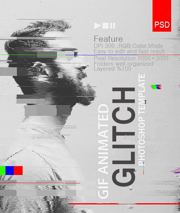 Gif Animated Glitch Templates
