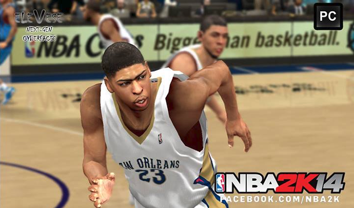 NBA 2K14 Anthony Davis Next-Gen Face Mod
