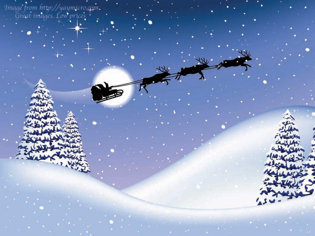 Fondo Escritorio Nevada Navideña: Tarjetas De Navidad: Fondos De Escritorio De Navidad