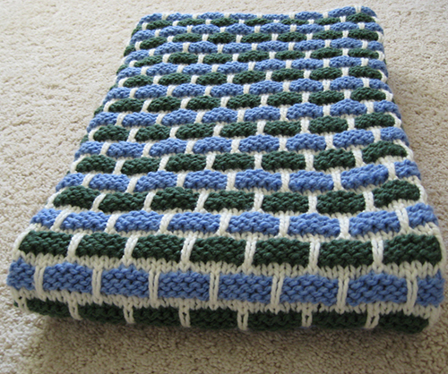 Ballband Dishcloth Blanket free knitting pattern